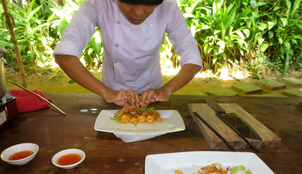 Cooking class at the Red Bridge in Hoi An, Vietnam
