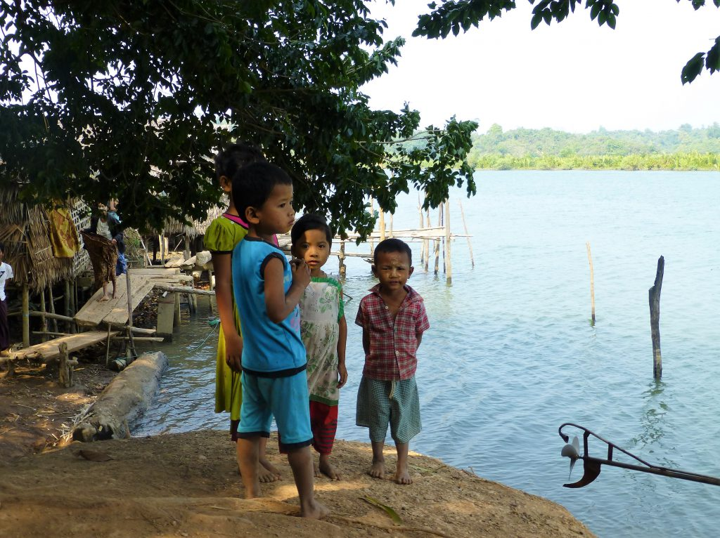 Fishermen village near Chaung Tha, Myanmar