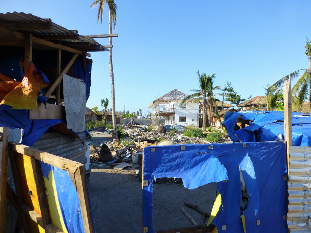 The desastrous results of the tyfoon Haiyan, Malapascua. Cebu -Phillipines
