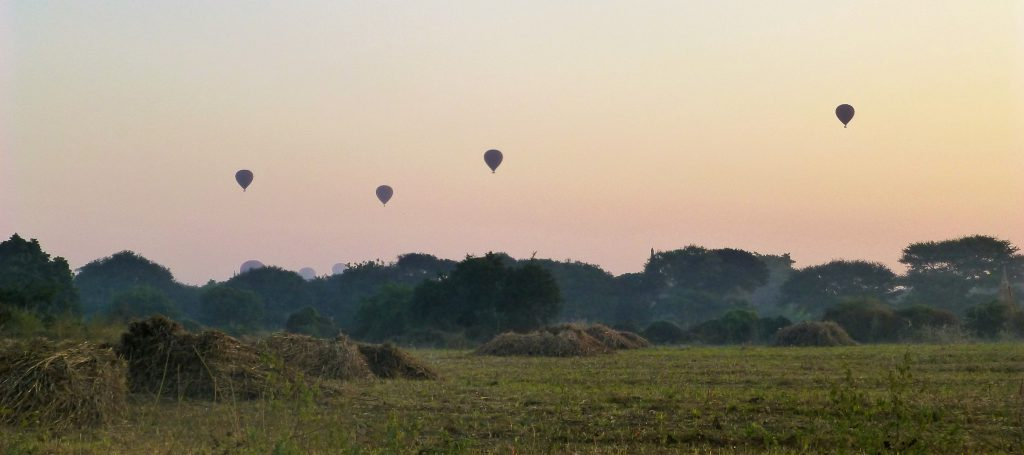 Walking To My First Sunrise at Bagan, Myanmar