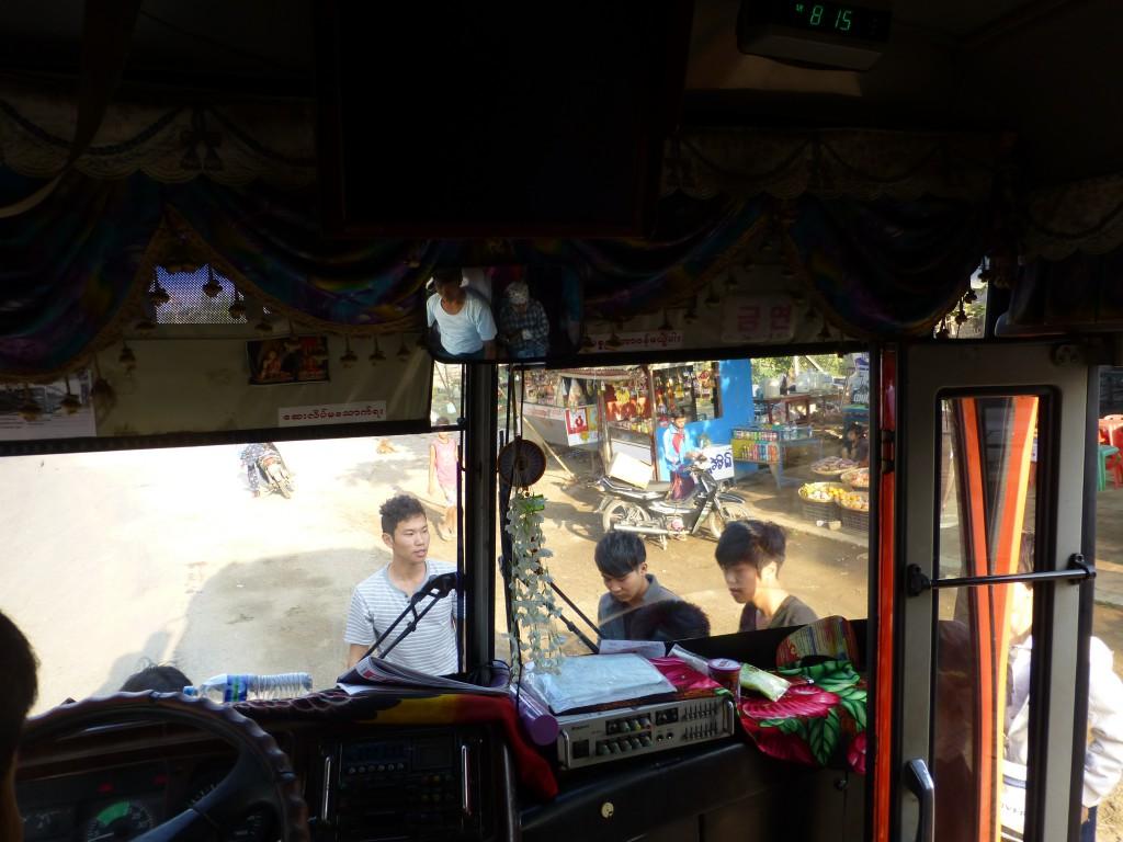 Local buses in Myanmar