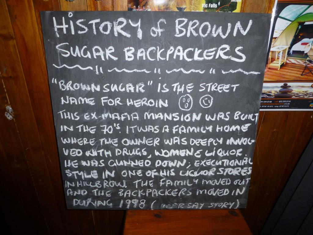 History of Brown Sugar Backpackers Lodge