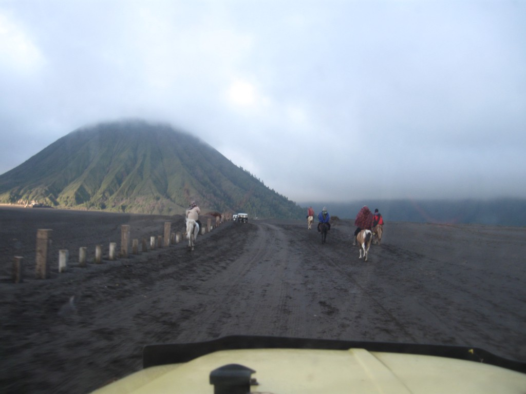 Zonsopgang bij de vulkaan Bromo