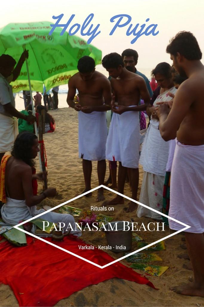 Holy Puja on the Beach of Papanasam - Varkala, Kerala