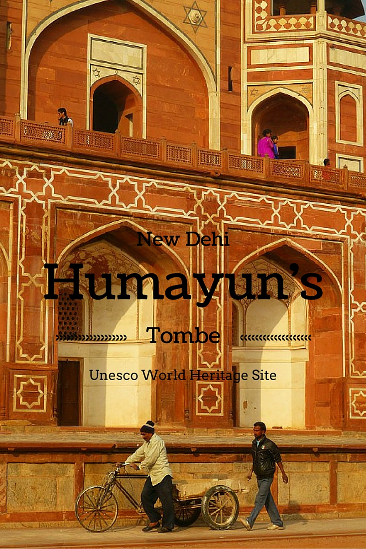 Humayun's Tombe, an oases in the busy citycentre of New Delhi, India