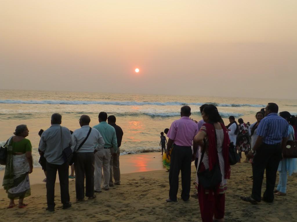 Puja on Papanasam - Varkala Beach - India
