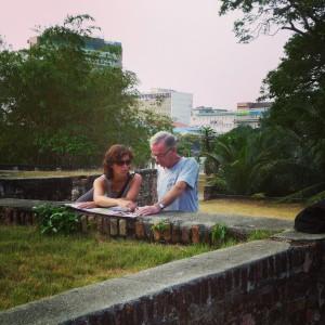 Pap en ik in Penang, Backpack
