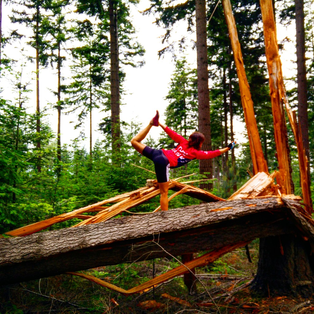 Dancers Pose on Broken Tree, Yoga