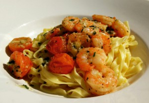 Pasta with Delicious Shrimps