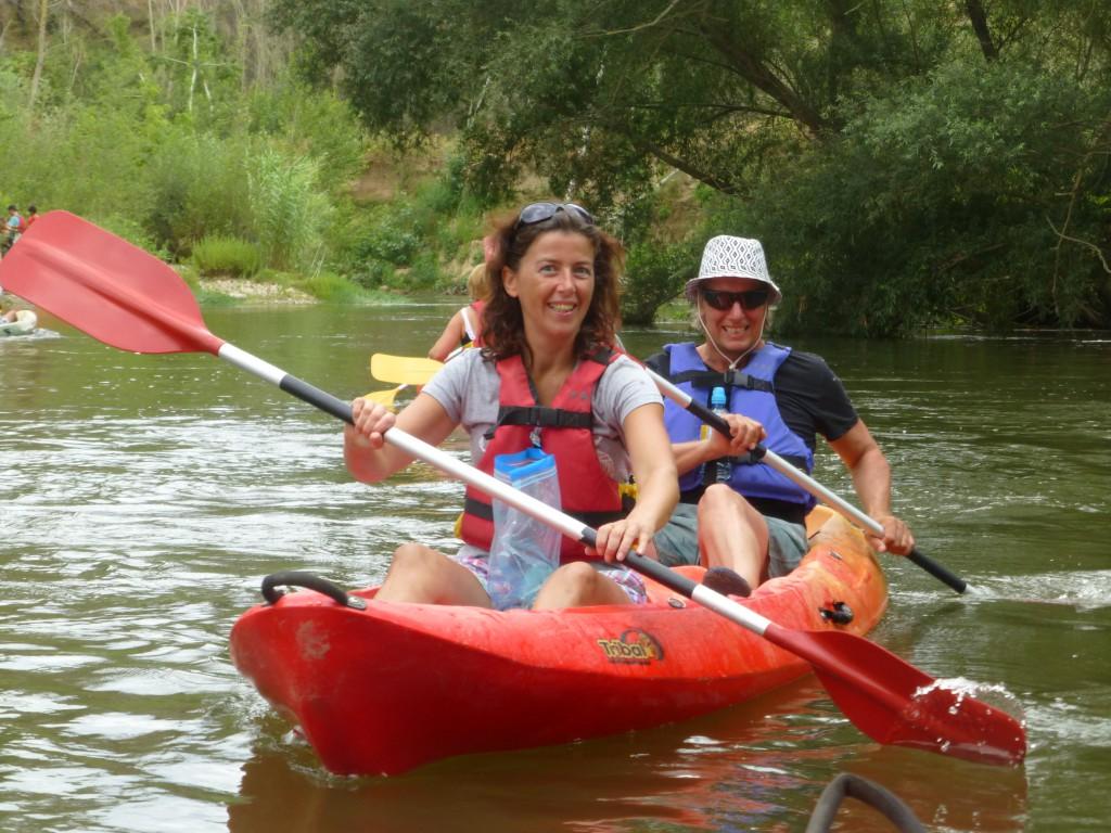Kayakken op de rivier Ter