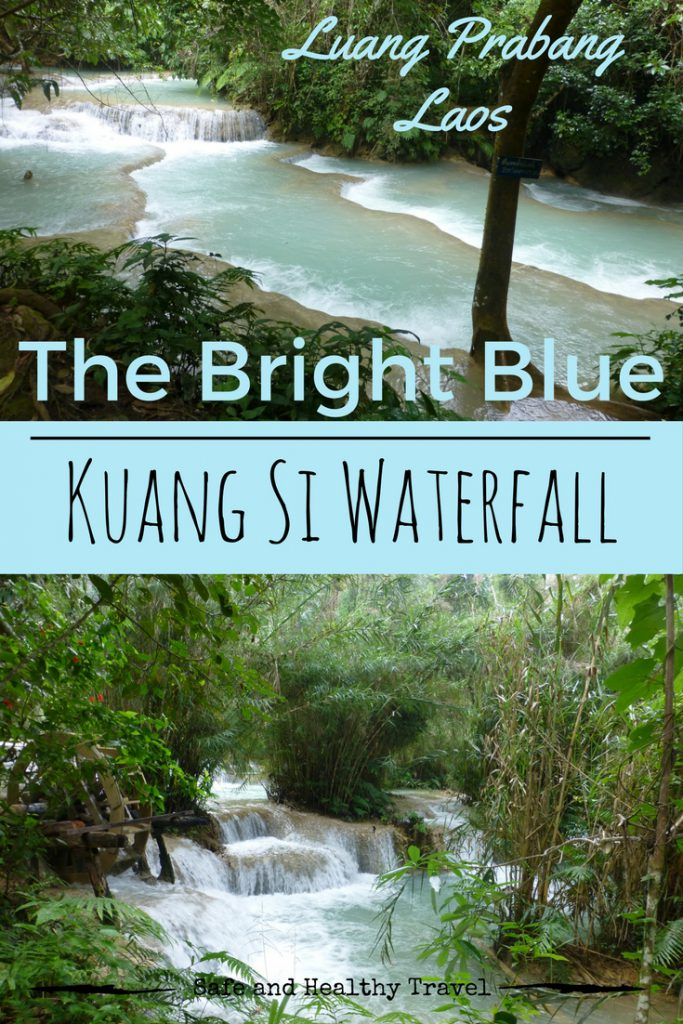 The Bright Blue Kuang Si Waterfall