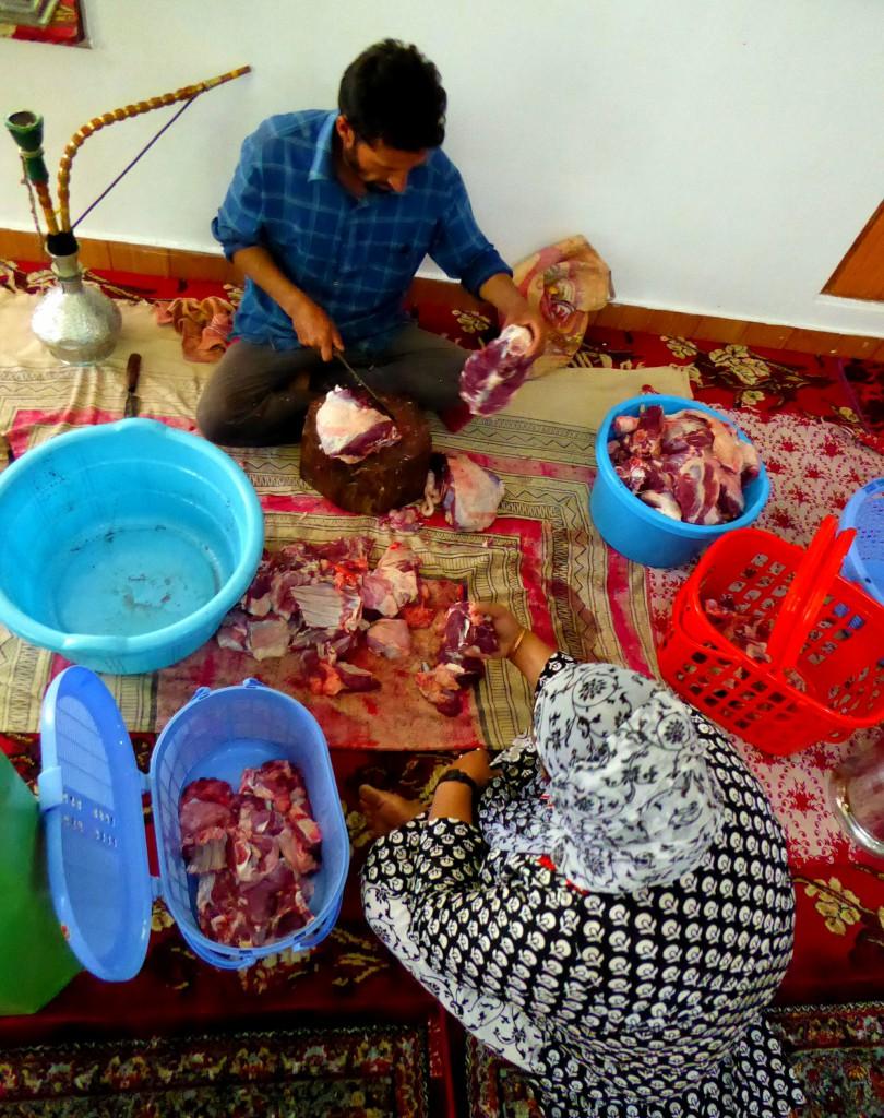 Verdelen van het vlees, Moslim Feest Eid Ul Adha