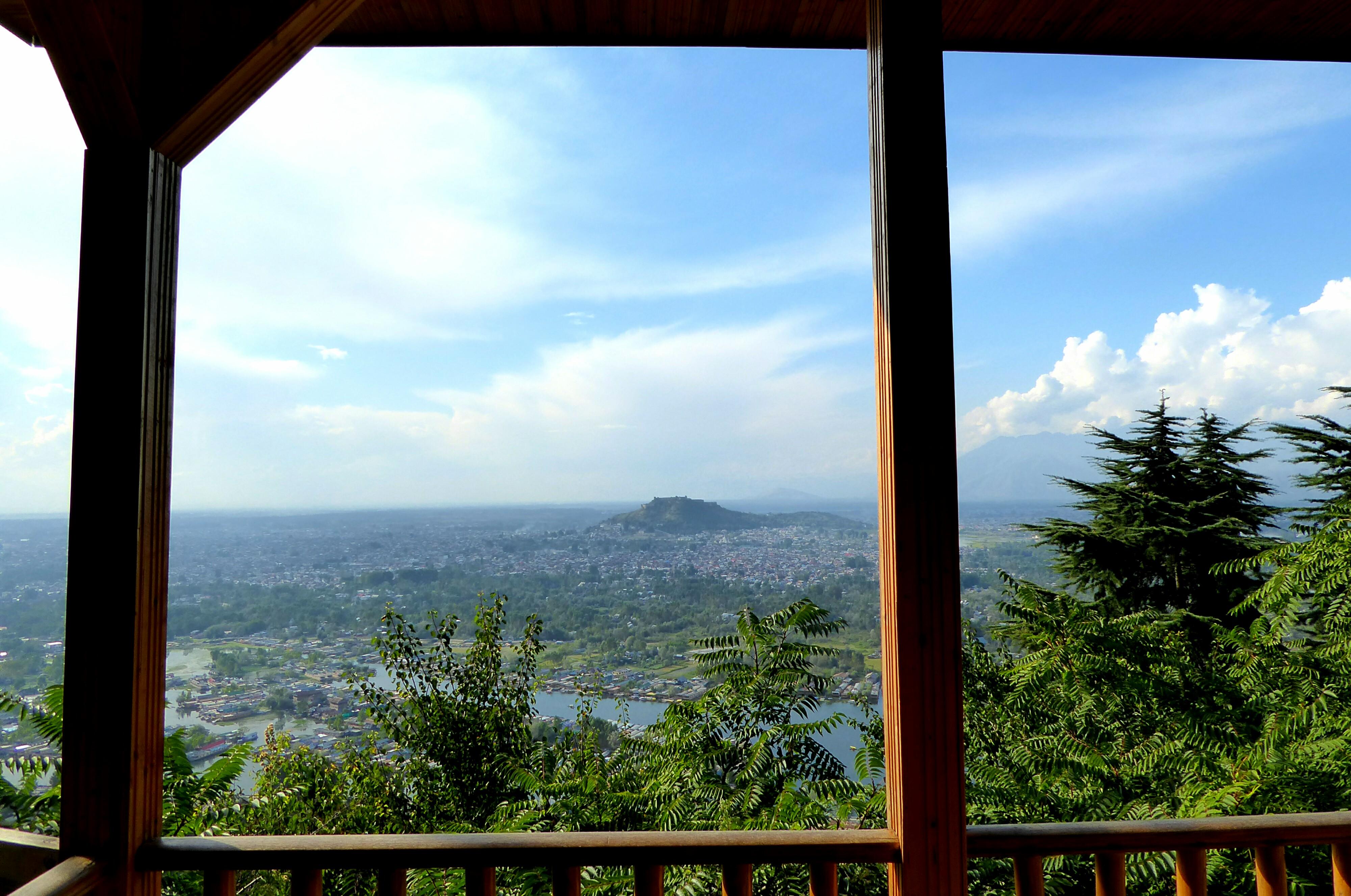 Panorama Zicht over Srinagar