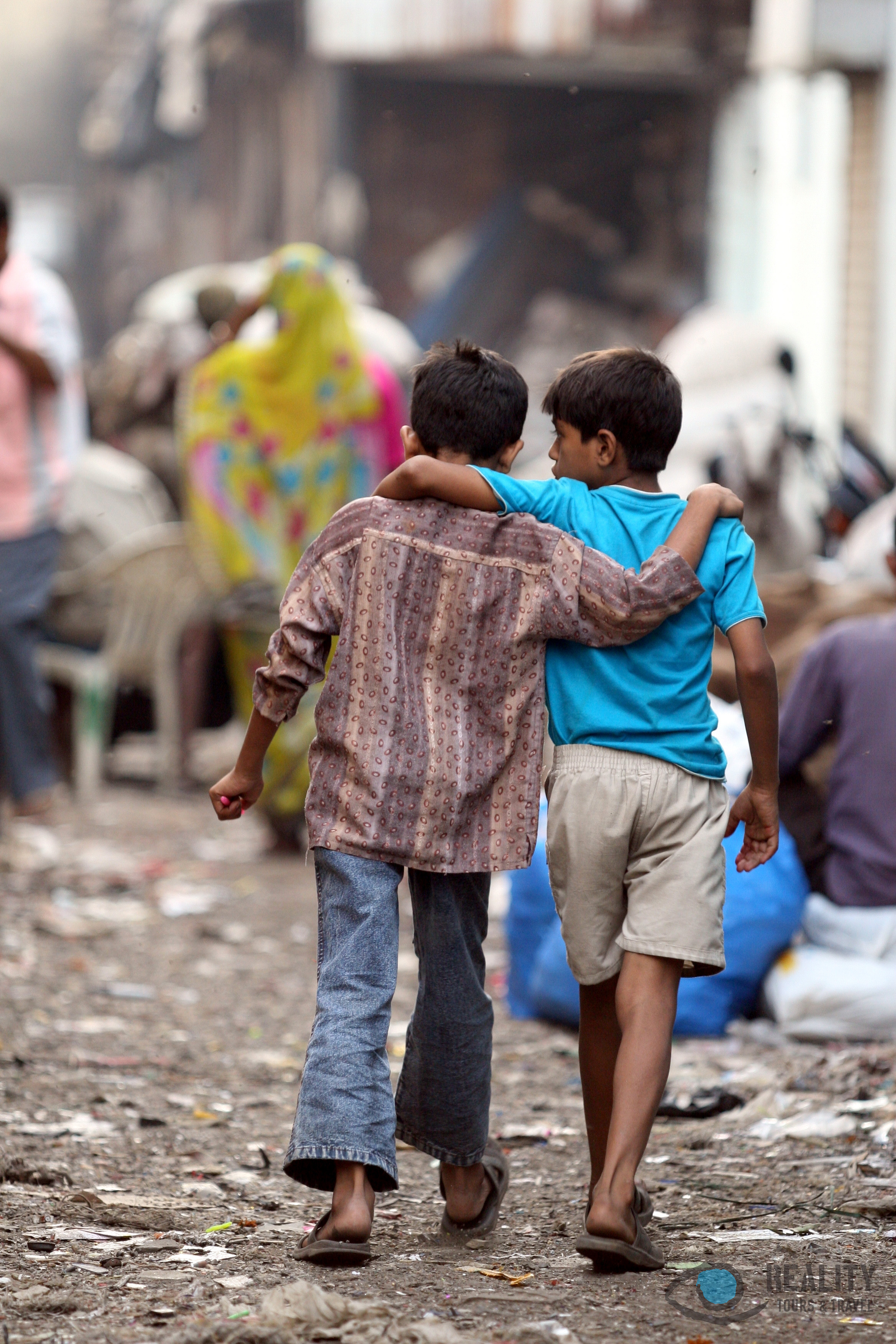 Dharavi Slum, Children