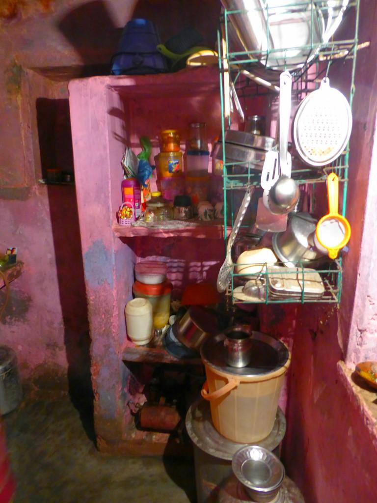 The Kitchen of my cookingclass, Varanasi
