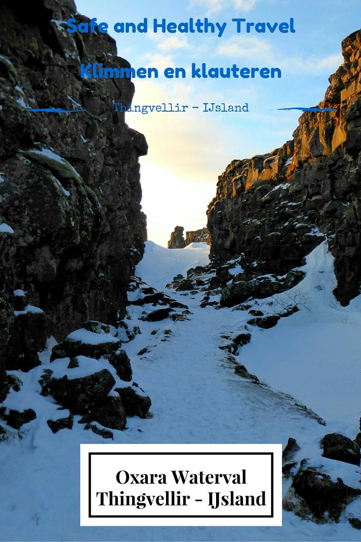 Thingvellir - IJsland  Klimmen en klauteren in het geweldige Thingvellir in IJsland. Met als beloning een waterval...wat wil je nog meer?