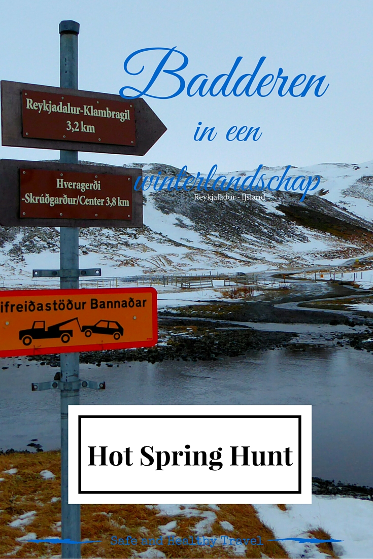 Hot Spring Hunt, badderen in een winterlandschap