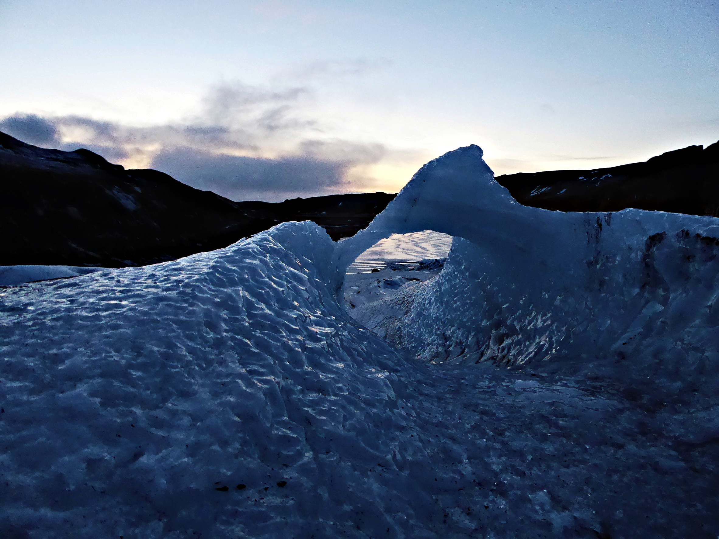 Solheimajokull in Twilight