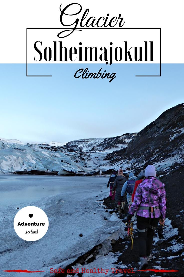 Glacier Solheimajokull Twilight