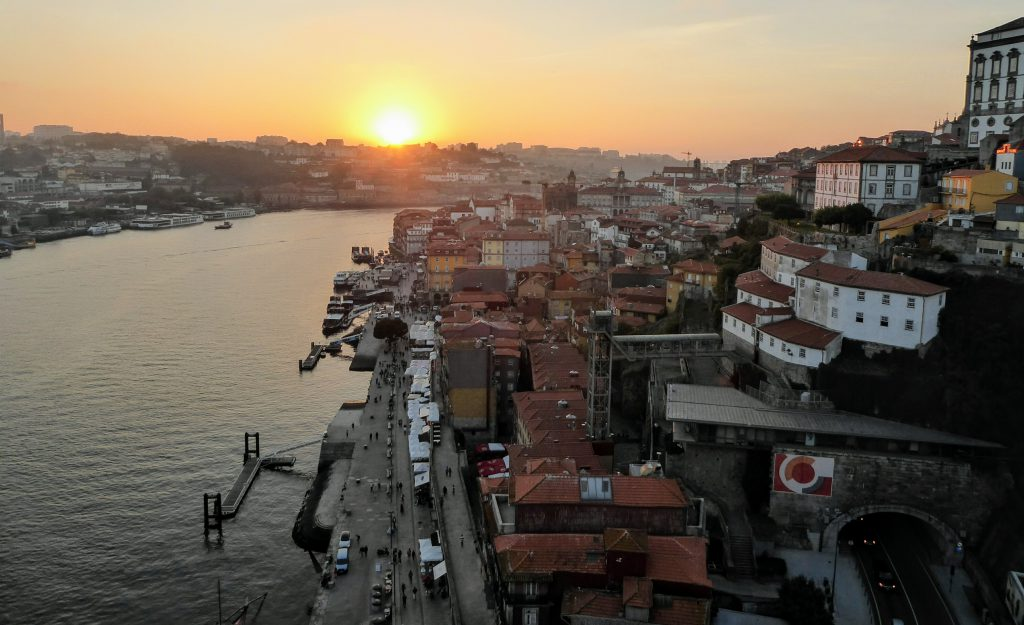 River Douro - Sunset - Porto, Portugal Panorama in Porto