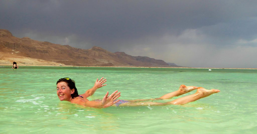 Floating in the Dead Sea - Ein Bokek, Israel(1)
