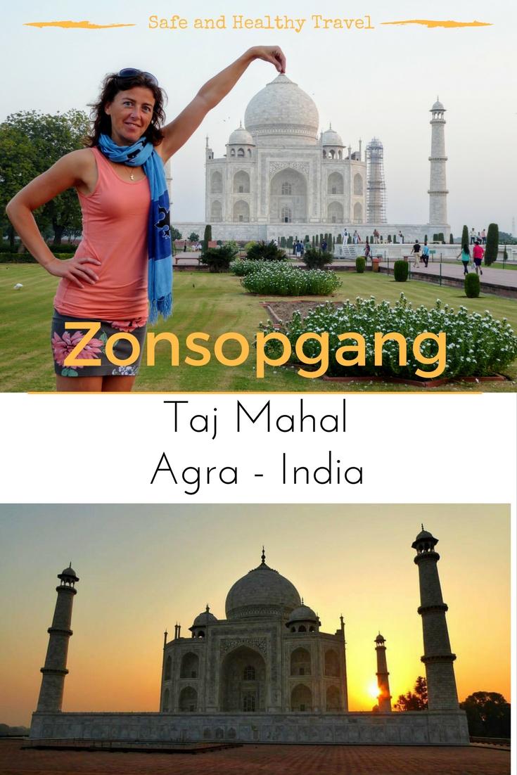 Zonsopgang bij de Taj Mahal - Agra