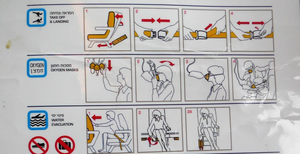 Safety Instructions Airplanes; do we still notice them?