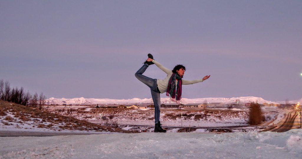 Yoga Pose - Iceland