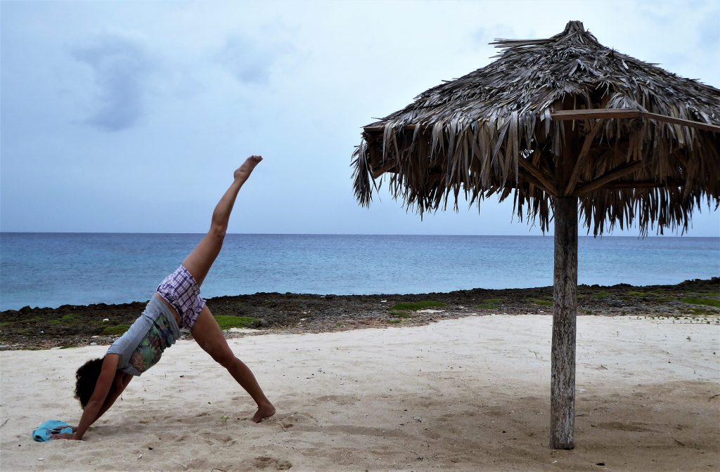 Yoga At Playa Ancon, Cuba