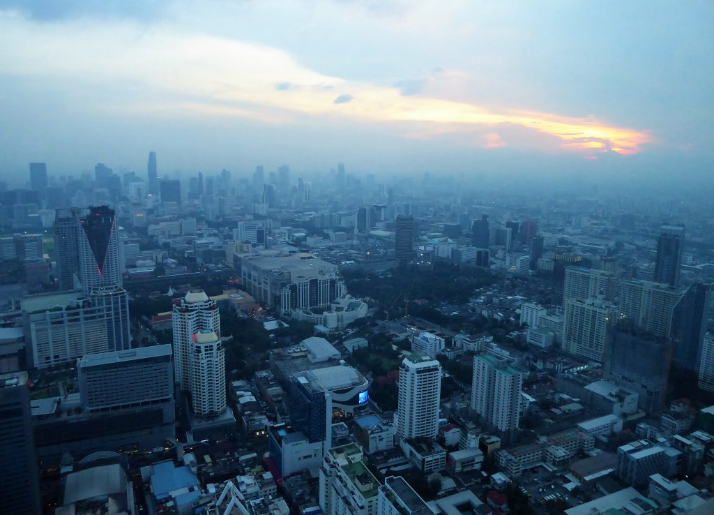 On top of Baiyoke Tower, Bangkok .. it was getting uncomfortable