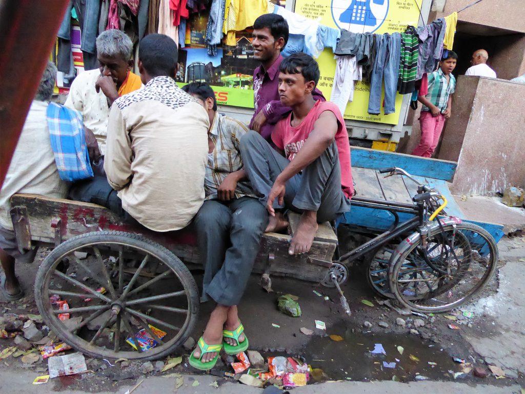 Een must: Rickshaw rit door Chandni Chowk - Delhi