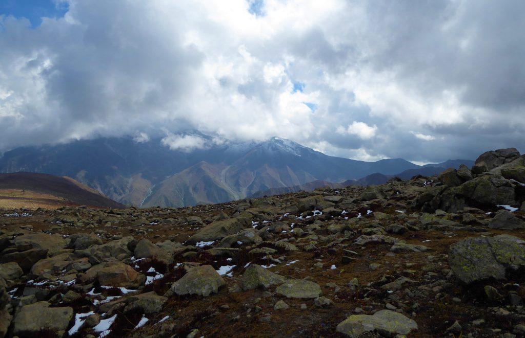 Afarwat station op 4390 meter hoogte - Kashmir Gulmarg